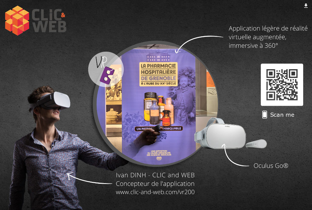 applications legeres en realite virtuelle augmentee immersive a 360 Ivan DINH CLIC and WEB