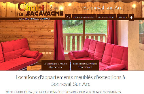 Chalet Le Sacavagne : Locations d'appartements meublés d'exceptions à Bonneval-Sur-Arc