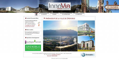 Site internet Innovia Grenoble durablement